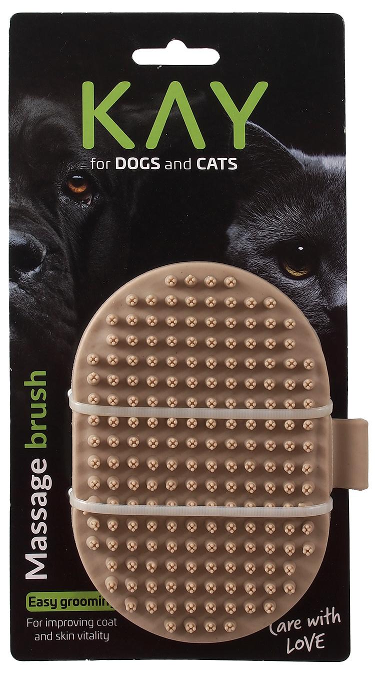 Ķemme dzīvniekiem - KAY Massage Brush, 13 cm