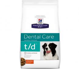 Veterinārā barība suņiem - Hills Canine t/d, 10 kg