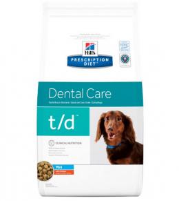 Ветеринарный корм для собак - Hills Canine t/d Mini 3 кг