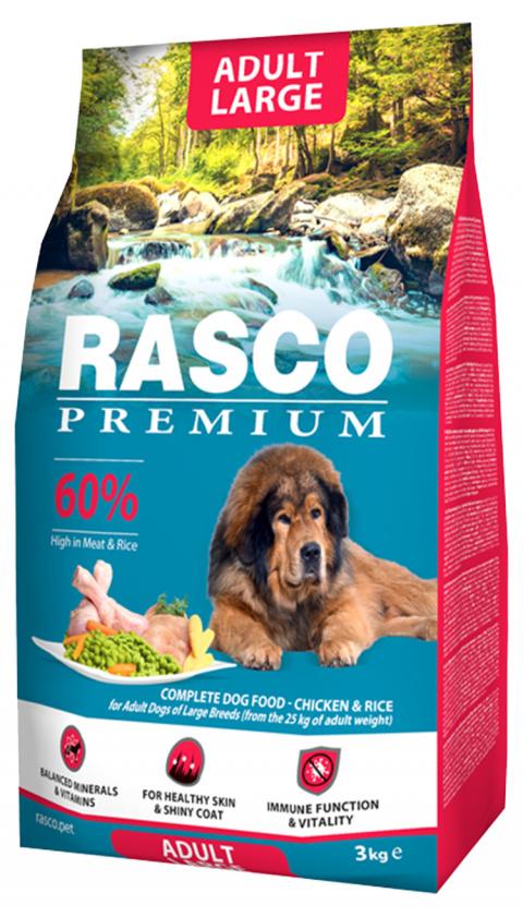 Barība suņiem - Rasco Premium Adult Large Breed, 3 kg