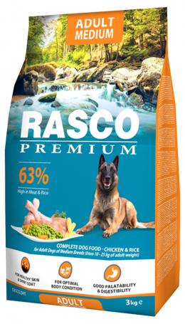 Корм для собак  - Rasco Premium Medium Breed, 3 кг