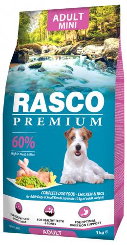 Barība suņiem - Rasco Premium Adult Small, 1 kg