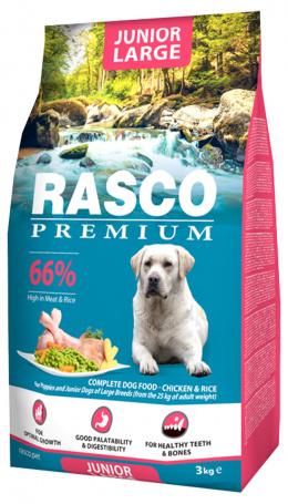 Barība kucēniem - Rasco Premium Junior Large, 3 kg