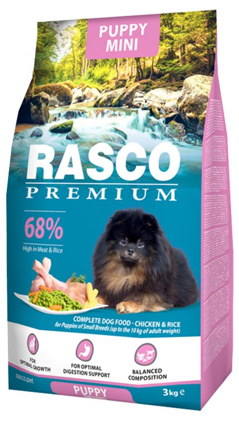 Корм для щенков - Rasco Premium Puppy Mini, 3 кг title=