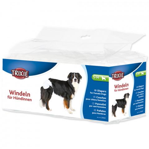 Autiņbiksītes suņiem – TRIXIE Diapers for Female Dogs, S–M: 28–40 cm, 12 gab. title=