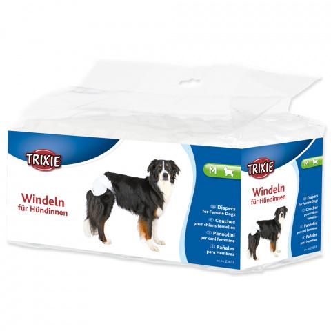 Autiņbiksītes suņiem – TRIXIE Diapers for Female Dogs, M: 32–48 cm, 12 gab. title=