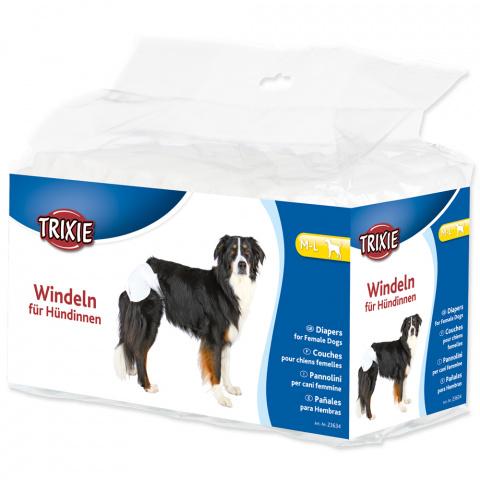 Autiņbiksītes suņiem – TRIXIE Diapers for Female Dogs, M–L: 36–52 cm, 12 gab. title=