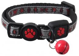 Ошейник для кошек – ACTIV CAT, Collar Reflective XXS, 1 x 16–22 см, Red