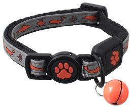 Ошейник для кошек – ACTIV CAT, Collar Reflective XXS, 1 x 16–22 см, Orange