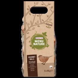 Корм для уличных птиц - Menu Nature Gourmet Balls with Raisins & Oatflakes, 6*90 г