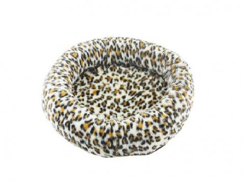 Guļvieta - Pawise Deluxe Round Cat Bed / leopard