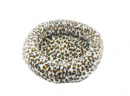 Лежанка для кошек – Pawise Deluxe Round Cat Bed, 40 x 6 см, leopard