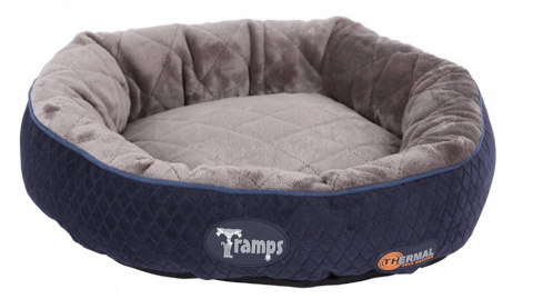 Guļvieta kaķiem - Scruffs TRAMPS Thermal Ring Cat Bed, Blue, 50 cm