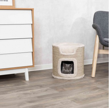 Mājiņa kaķiem - Trixie Ria Cat Tower, light grey, 37 cm