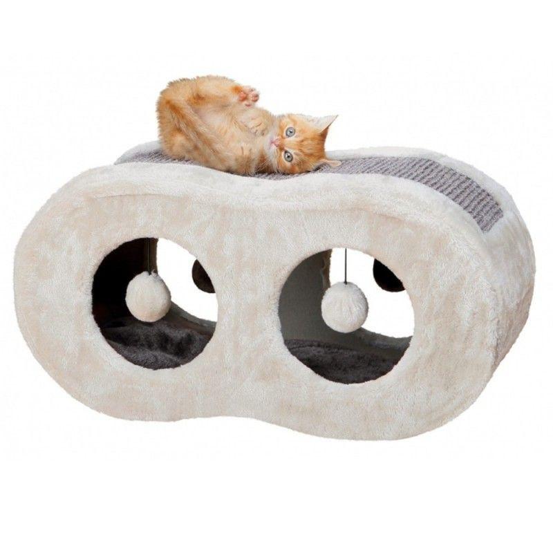 Guļvieta/nagu asināmais kaķiem - Trixie Liana Cuddly Cave, 56*28*25 cm, pelēka krāsa
