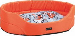 Guļvieta dzīvniekiem - AmiPlay Crazy oval bedding with cushion, S 46*37*13cm, krāsa - oranža