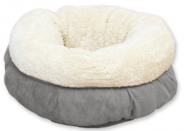Guļvieta kaķiem - AFP Lambswool Donut Bed, grey