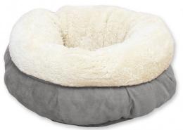 Guļvieta kaķiem - AFP Lambswool Donut Bed, grey
