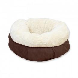 Guļvieta kaķiem - AFP Lambswool Donut Bed, brown