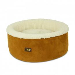 Guļvieta kaķiem - AFP Lambswool Curl&Cuddle bed, tan