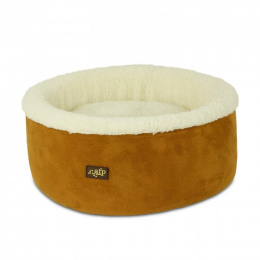 Guļvieta kaķiem - AFP Lambswool Curl&Cuddle bed, tan