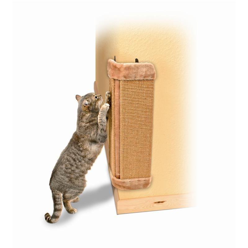 Nagu asināmais - Trixie Sisal Scratching Post for Corners, bēšs, 23*49 cm