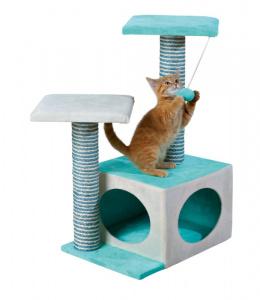 """Mājiņa kaķiem - TRIXIE """"Neo"""" Scratching Post, 71cm, krāsa - krēmkrāsa/zaļa"""