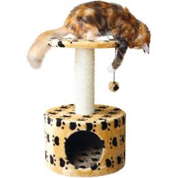 """Домик для кошек - """"Toledo"""" (бежевый с лапками)"""