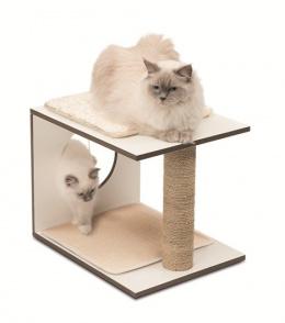 Когтеточка для кошек - Hagen Vesper V-Stool, white, 46,5 x 37 x 37 см