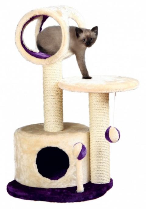 """Mājiņa kaķiem - TRIXIE """"Lucia"""" Scratching Post, 75cm, krāsa - bēša/violeta"""
