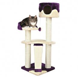 """Mājiņa kaķiem - """"Carla"""" Scratching Post, bēša krāsa/violeta, 104cm"""
