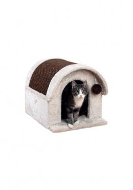 Mājiņa kaķiem - TRIXIE Arlo cat house, 40*40*45 cm, krāsa - gaiši pelēka/brūna