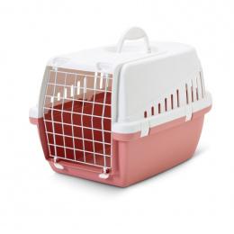 Транспортировочный бокс для животных - SAVIC Trotter 1, retro, 49*33*30см, цвет - розовый/белый