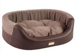 Спальное место для собак - Овальное спальное место 2in1 Morgan, M 64*55*19cm, коричневый