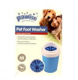 Rīks ķepu mazgāšanai - Pawise pet foot, M, 15 x 8 cm