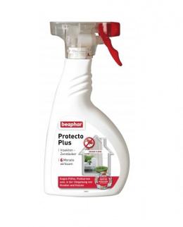 Līdzeklis telpām parazītu iznīcināšanai - Beaphar Protecto Plus, 400 ml