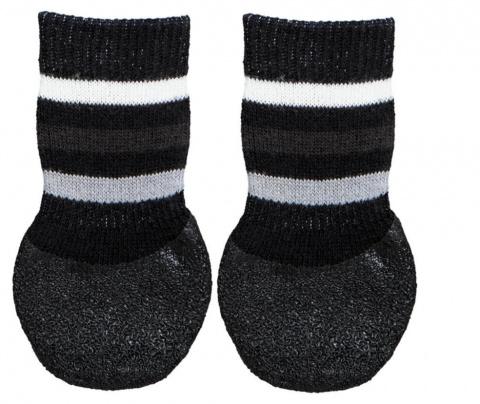 Носочки для собак - Trixie Dog socks, нескользящие, S–M, 2 шт