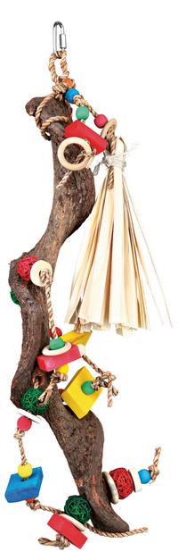 Игрушка для птиц - Wooden toy with wicker balls, 56 см