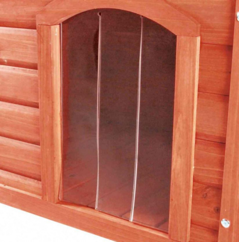 Durvis suņu būdai - Plastic door for dog kennel, 32x43 cm title=