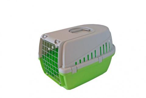Transportēšanas bokss dzīvniekiem – Savic, Trotter 1, lime green - grey, 49 x 33 x 30 cm title=