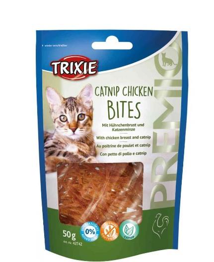 Лакомство для кошек - TRIXIE PREMIO Catnip Chicken Bites, 50 г
