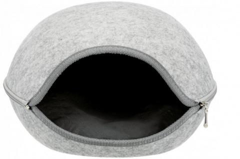 Guļvieta dzīvniekiem – Luna Cuddly Cave, 40 x 24 x 46 cm, Light Grey title=