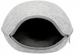 Guļvieta dzīvniekiem – Luna Cuddly Cave, 40 x 24 x 46 cm, Light Grey