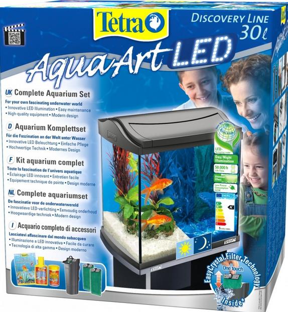 Akvārijs - TETRA Aqua Art LED 30l, black