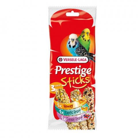 Лакомство для птиц - Versele-Laga Prestige 3x Sticks Budgies Variety Pack, 90 g title=