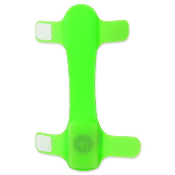 Atstarojošs aksesuārs kakla siksnai – Dog Fantasy Collar Cover LED, Light Green, 15 cm