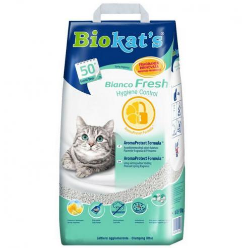 Cementējošās smiltis kaķu tualetei - Biokat's Fresh, 5 kg