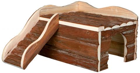 Деревянный домик для грызунов - Trixie Natural Living Ineke house, 38 x 25 x 50 см title=
