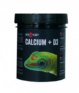 Barības piedeva reptiļiem - ReptiPlanet Calcium+D3, 125 g