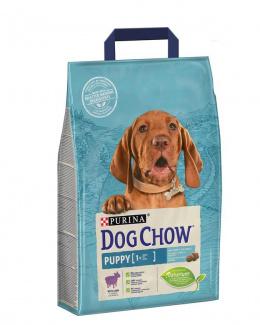 Barība kucēniem - Dog Chow Puppy ar jēru un rīsiem, 2,5 kg